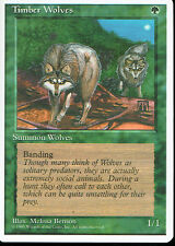 MAGIC THE GATHERING 4TH EDITION GREEN TIMBER WOLVES