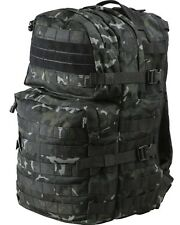 New 40 Litre MOLLE Black BTP Camo Assault Grab Pack RUCKSACK Airsoft Tactical
