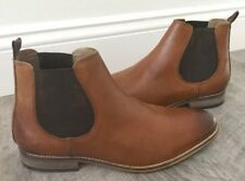 17cda18d370a NEW ASOS MEN S BROWN TAN LEATHER NATURAL SOLE CHELSEA BOOTS SIZE 9