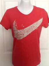 Women's NIKE Slim Fit Just Do It Pink Athletic Top Tee Shirt Tee S, Perfect!!