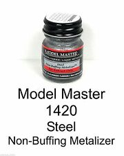 Model Master 1420 Steel Non-Buffing Metalizer 1/2 oz Lacquer Paint Bottle
