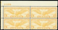 C19, Mint VF NH 6¢ Airmail Plate Block A GEM *- Stuart Katz