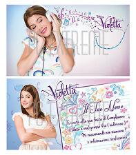 Biglietti - Inviti Compleanno personalizzati VIOLETTA 30 Pz