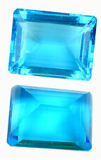 33,50 ct Hydro Blue Topaze - Emerald cut - IF - India - Wonderful size and color