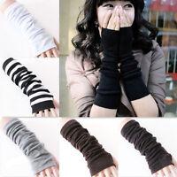NEW Fashion Women Knitted Fingerless Winter Slim Gloves Soft Warm Long Mitten