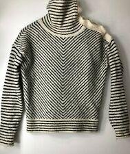 ASOS black and white soft stripy jumper UK8