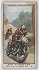 1931 German Grand Prix Motorcycle 500 c.c. Class Norton  1930s Trade Ad Card