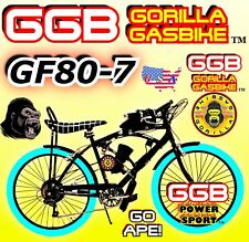 66cc/80cc 2-Stroke Motorized Bike Kit With Multispeed Cruiser Bike Power Diy
