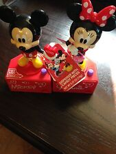 NEW DISNEY MICKEY & MINNIE MOUSE TALKING CANDY DISPENSER FIGURINES FREE SHIPPING