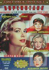 Female Super Stars 2 DVD Elizabeth Taylor, Marilyn, Grace Kelly, Audrey Hepburn
