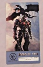 IMAX 3D COLLECTIBLE TICKET TRANSFORMERS WORLD COLLIDE /1000