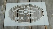 Fallout Vault Tec Mylar plantilla ideal para la decoración de pintura de Aerosol de ciclismo