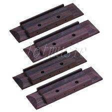 4 Pcs Ukulele Bridge With Abalone Dot Inlay for 4 String Ukulele Guitar Parts