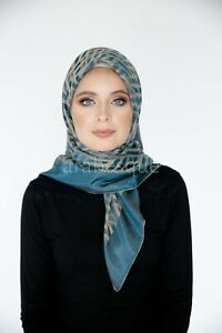 Jacquard Woven Pattern Square Hijab - Made in Turkey