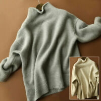 Women's Pullover Sweater Cashmere Blends Turtleneck Pullover Sweatshirts Sweater
