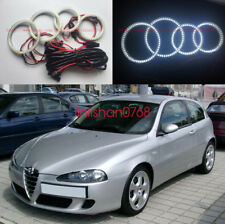 4pcs LED SMD 7000K Angel Eyes kit Halo Rings For Alfa Romeo 147 2005 - 2010