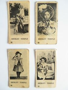 RARE lot of 4 small Film Star Shirley Temple cards printed 1930,s in Holland