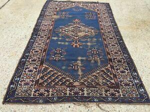 Turkish Vintage shabby chic Rug vegetable dye 210x126cm Persian Tribal boho old