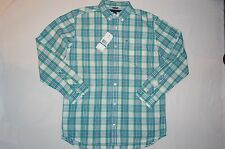 NWT $39.5 TOMMY HILFIGER shirt long sleeve BOY size XL/TG 20 green