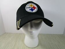 Pittsburgh Steelers NFL Snap Back Trucker Hat black gold w/ white mesh Ball Cap