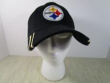 Pittsburgh Steelers NFL Ball cap Snap Back Black & Gold Trucker Hat white mesh