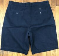 Callaway Golf Sport Mens Shorts Chinos Pleated Navy Blue Actual Size 37