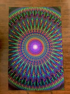 """Psychedelic Tapestry - Sacred Geometry - 39"""" x 60"""" - Samuel Farrand"""