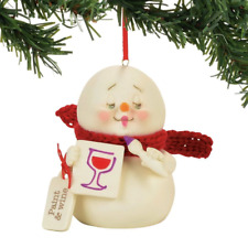 Department 56 Paint and Wine Ornament 4057413 Snowbabies Snowpinion Dept New