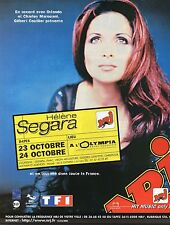 Publicité Advertising 2000 radio NRJ concert helene segara