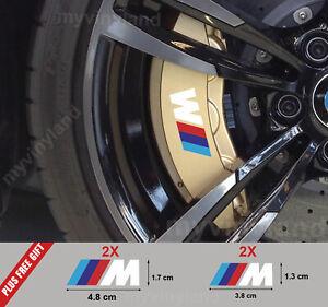 4Stck BMW M tec bremssattel caliper aufkleber decal logo E60 E70 E90 F10 Weiß M