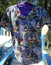 Halloween Mickey Mouse Scrub top SZ  MED NEW NWT shirt Minnie Mouse scary