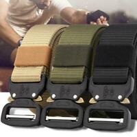 Outdoor Heavy Duty Rigger Military Tactical Belt Quick-Release Metal Buckle 47in