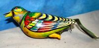 Vintage GES. GESCH. Germany Colorful Tin Litho Singing Toy Bird/Parakeet J641