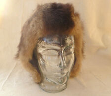 ~ CHILD'S REALFUR HAT w/button & loop closure on flaps ~ SMALLCAP