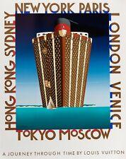 Original Louis Vuitton Poster - Razzia - A journey through time - Cassandre 1991