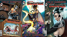 WONDERLAND AGE OF DARKNESS Covers A, B, C One-Shot 3 COVER SET Nice! NM New