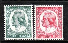 GERMANY Sc 446-7 NH ISSUE OF 1934 - SCHILLER