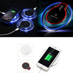 LED Qi Wireless Charger Charging Pad For iPhone Xs Xr X 8 Plus Note 8 S8/7 Plus