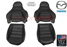 Mazda Miata Seat covers Fits 1990-1996 Pair of Black Leatherette Standard seats