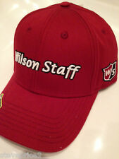 WILSON STAFF FITTED GOLF CAP. RED. SMALL TO MEDIUM