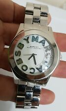 MARC BY MARC JACOBS CRYSTALS RIVERA LADIES STILL SILVER TONE WATCH MBM3136