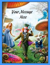 Alice in Wonderland Cake topper edible digital image icing A4 REAL FONDANT  #750