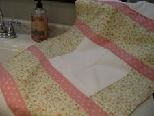Cottage Chic Shabby Pink Roses  1 of a KIND Custom Bath mat Hand M.