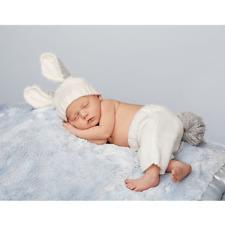 Mud Pie MEA7 Easter Newborn Baby Boy Knit Bunny Photography Photo Set 1592110