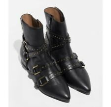 & Other Stories Studded Moto Boots Sz 41