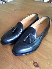 J.M Weston Boxcalf Tassel Loafers cousue main Tablier à peine porté UK7 F Largeur