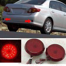 2PCS For 2009 Toyota COROLLA CAR Round Rear Bumper Fog Light LED COVER REFIT