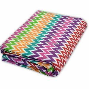 Indian Cotton Zig Zag Print Fabric Sanganeri Vintage Running Loose Fabric Crafts