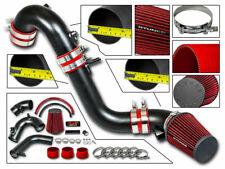 Cold Air Intake Kit MATT BLACK + RED Filter For 12-15 Civic SI / ILX 2.4L L4
