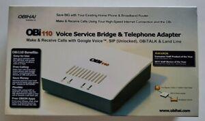 Obihai OBi110 Voice Service Bridge and VoIP Telephone Adapter.